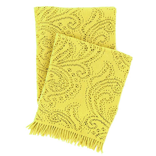 Paisley Lace Chartreuse Throw