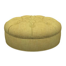Canvasuede Citrus Palm Court Tufted Ottoman