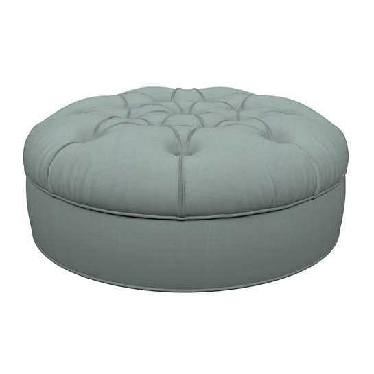 Estate Linen Sky Palm Court Tufted Ottoman