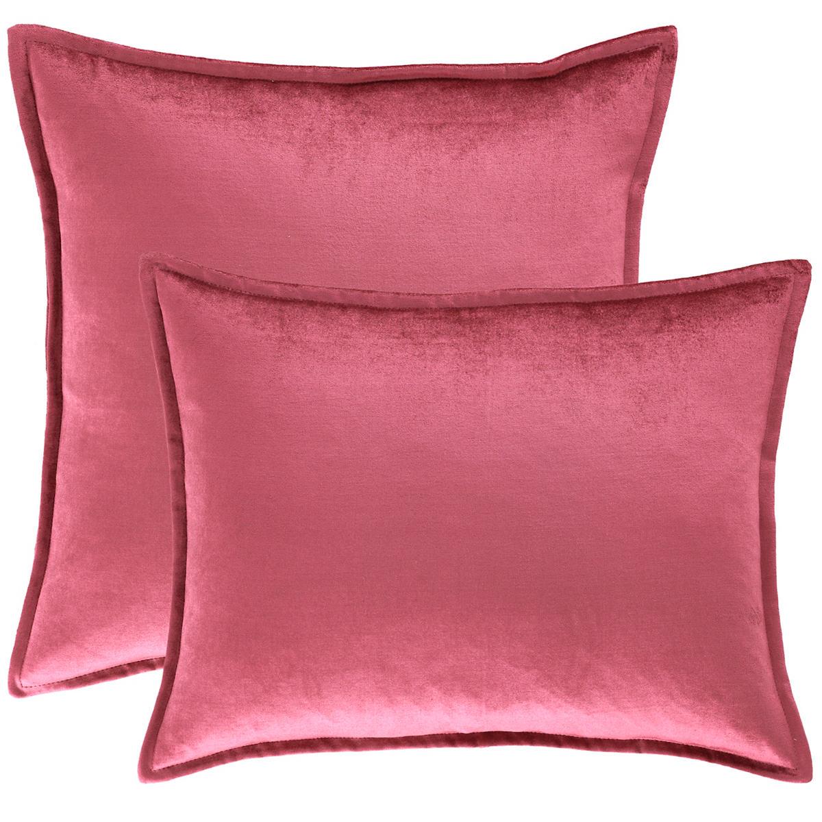 Panne Velvet Berry Decorative Pillow