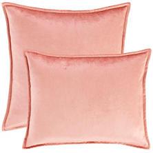 Panne Velvet Coral Decorative Pillow