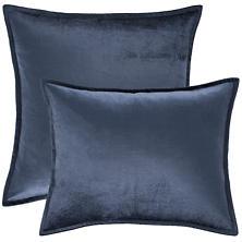 Panne Velvet Sapphire Decorative Pillow