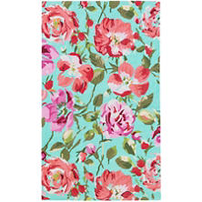 Beautiful Parade Of Roses Wool Micro Hooked Rug