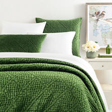 Parisienne Velvet Evergreen Quilt
