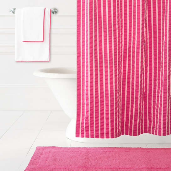Parker Fuchsia Shower Curtain | The Outlet