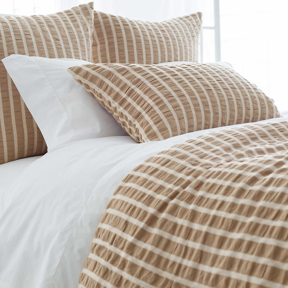 color beige cover washed bedding item getsubject cotton sheet solid hotel set fitted duvet aeproduct
