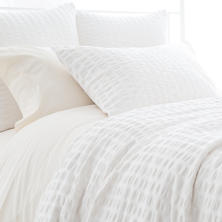 Parker White Duvet Cover
