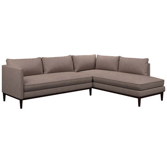 Canvasuede Heather Paseo Sectional