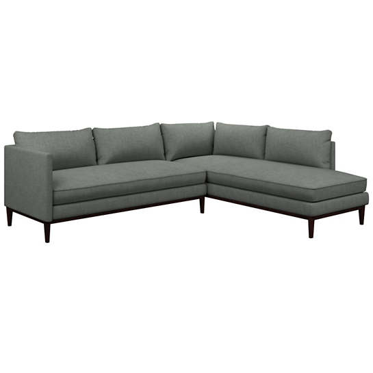 Canvasuede Ocean Paseo Sectional