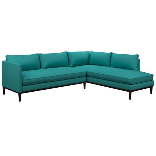 Estate Linen Turquoise Paseo Sectional