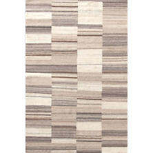 Patched Melange Wool Woven Rug