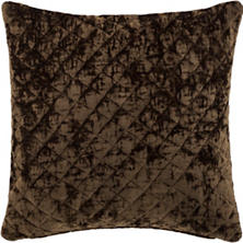 Patina Velvet Cocoa Decorative Pillow