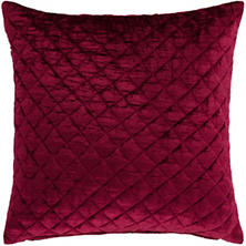 Patina Velvet Cranberry Decorative Pillow
