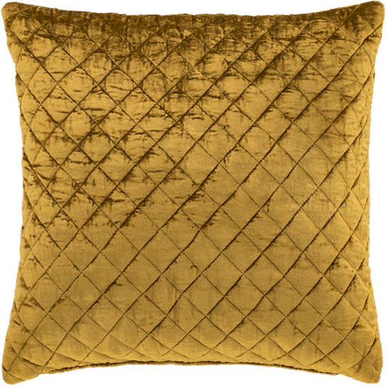 Patina Velvet Gold Decorative Pillow