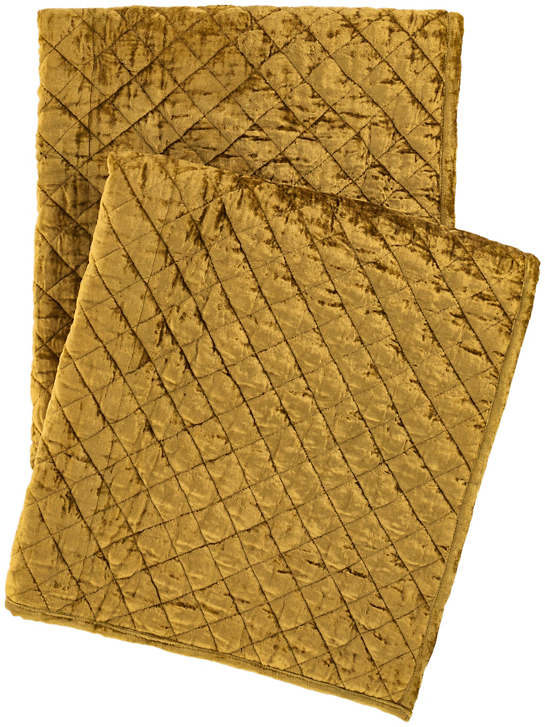 Patina Velvet Gold Throw