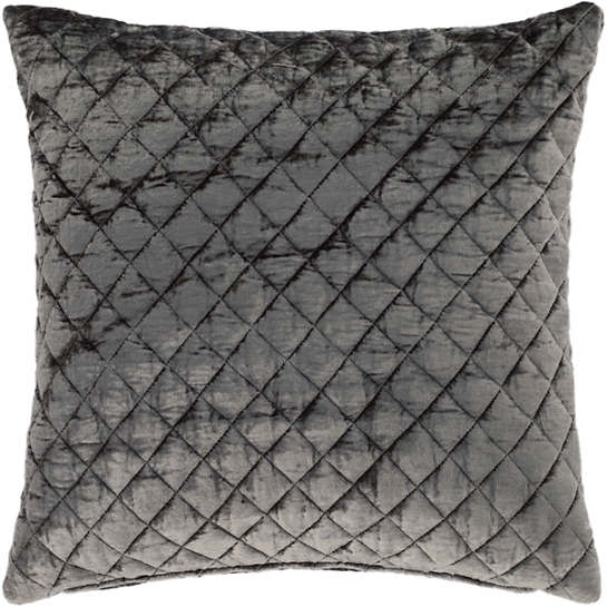 Patina Velvet Grey Decorative Pillow