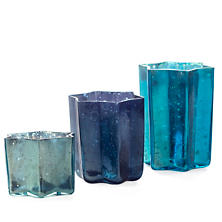 Tonal Peacock Bright Star Votive Holder/Set Of 8