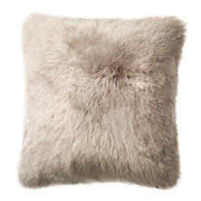 Pearl Grey Longwool Combed Sheepskin Decorative Pillow