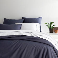 Essential Percale Blue Duvet Cover