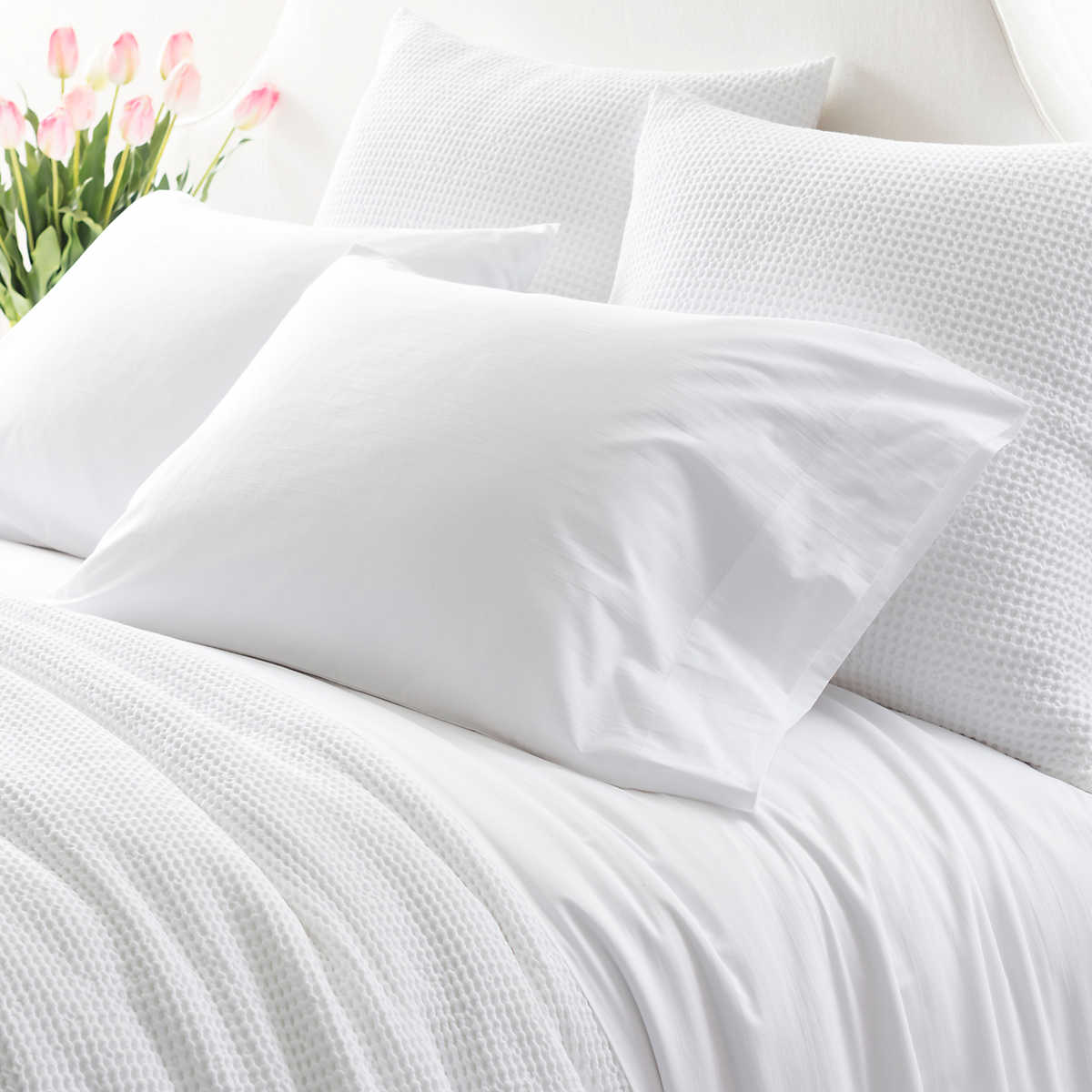 Essential Percale White Sheet Set Pine Cone Hill