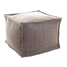 Petit Diamond Charcoal/Platinum Indoor/Outdoor Pouf