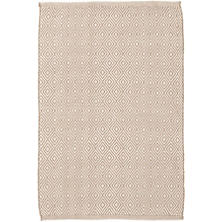 Petit Diamond Khaki/Ivory Indoor/Outdoor Rug