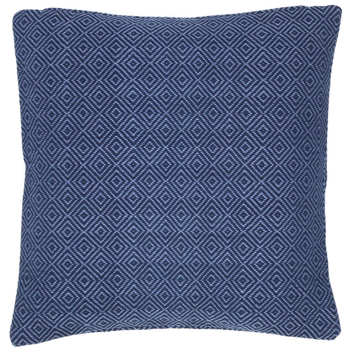 Petit Diamond Navy/Denim Indoor/Outdoor Pillow