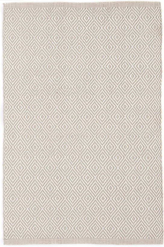 Petit Diamond Platinum/Ivory Indoor/Outdoor Rug | Dash & Albert