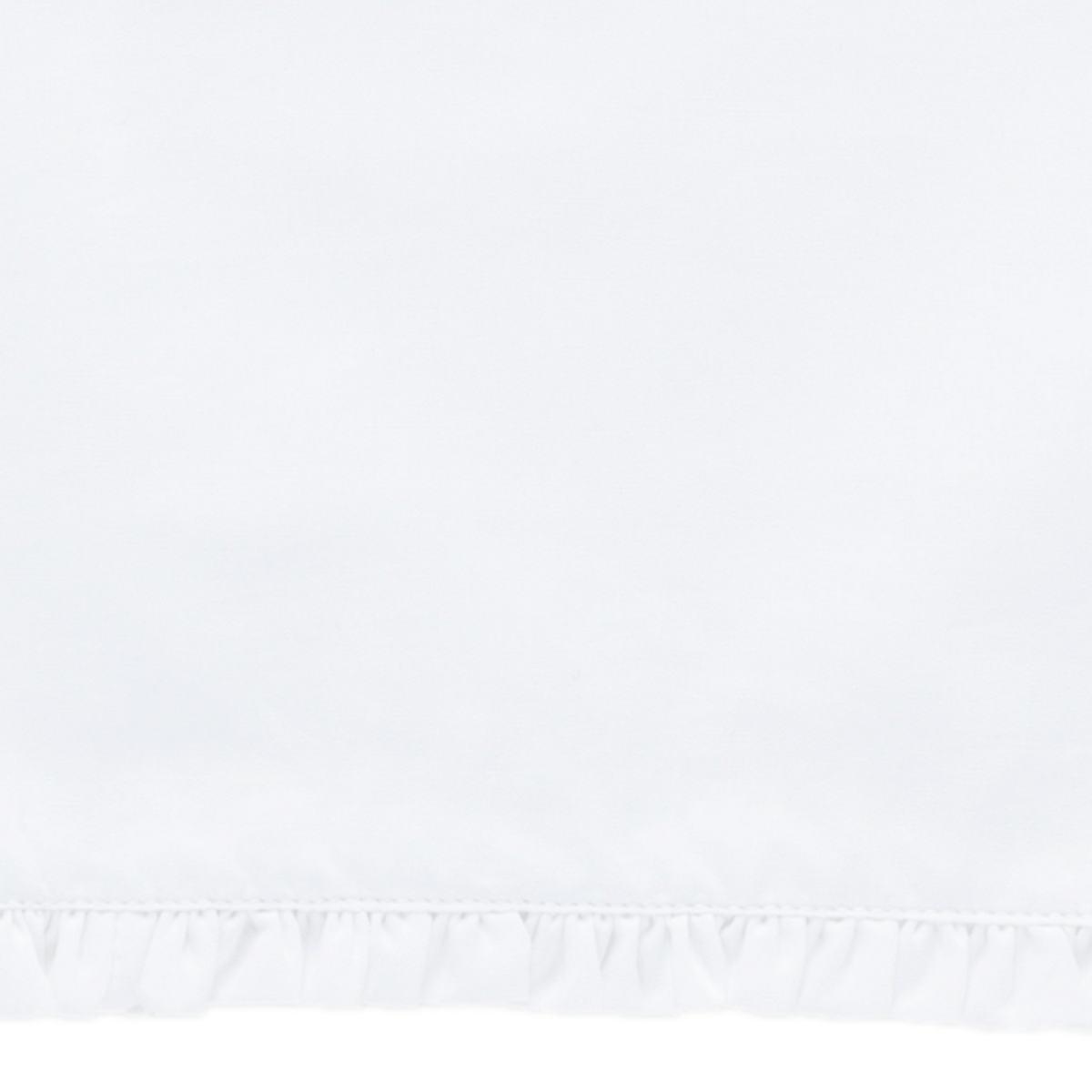 Petite Ruffle White Sheet Swatch