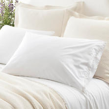 Petite Ruffle White Pillowcases
