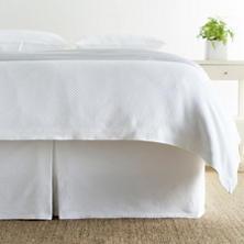 Petite Trellis Matelassé Bed Skirt