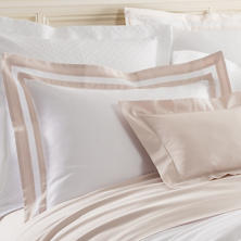 Piazza White/Rose Quartz Pillowsham