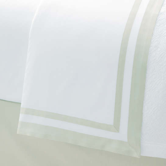Piazza White/Verde Flat Sheet