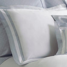 Piazza White/Delphinium Pillowsham