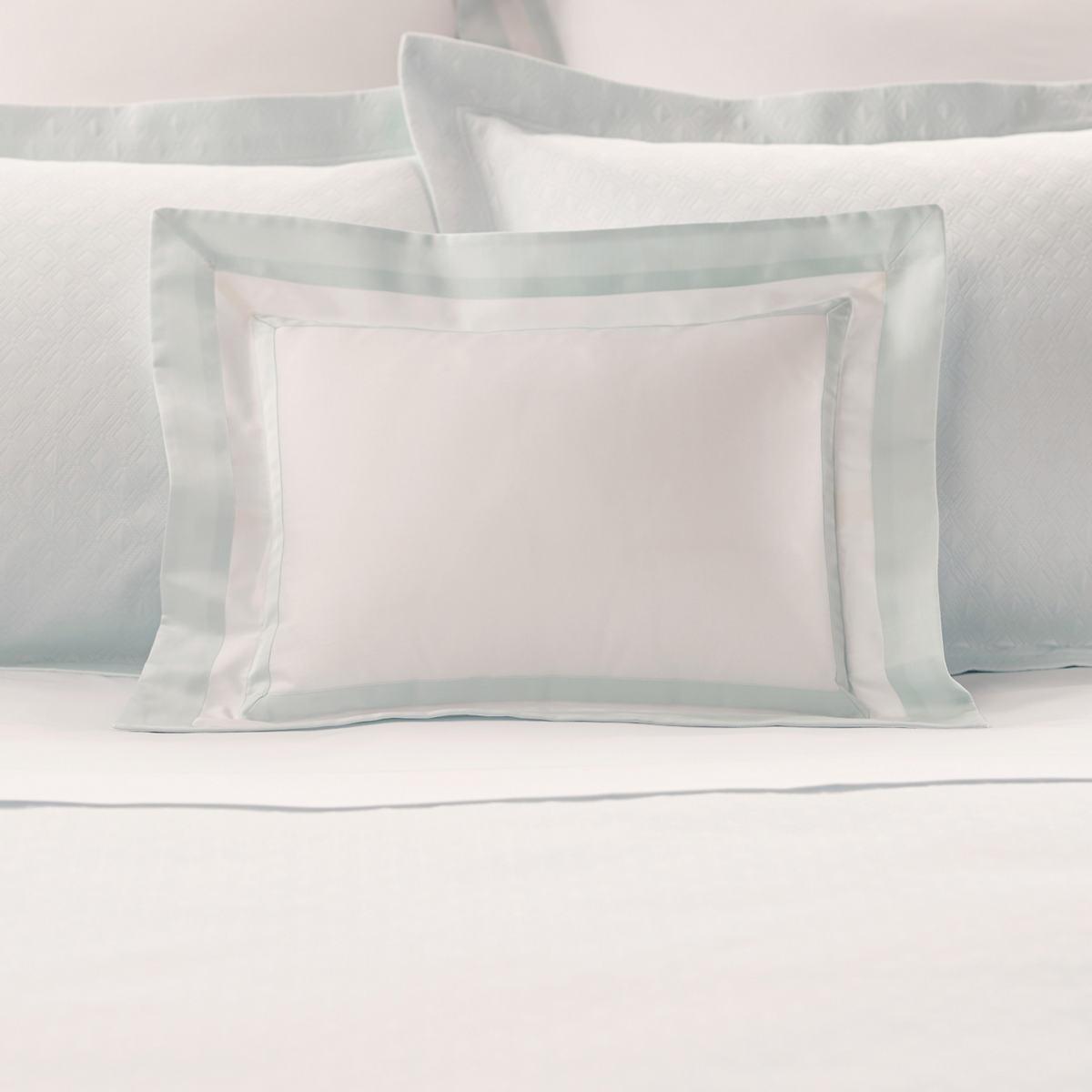 Piazza White/Pearl Blue Decorative Pillow