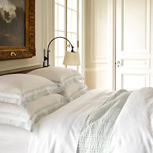 Piazza White/Pearl Blue Pillowsham