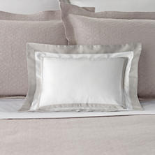 Piazza White/Zinc Decorative Pillow