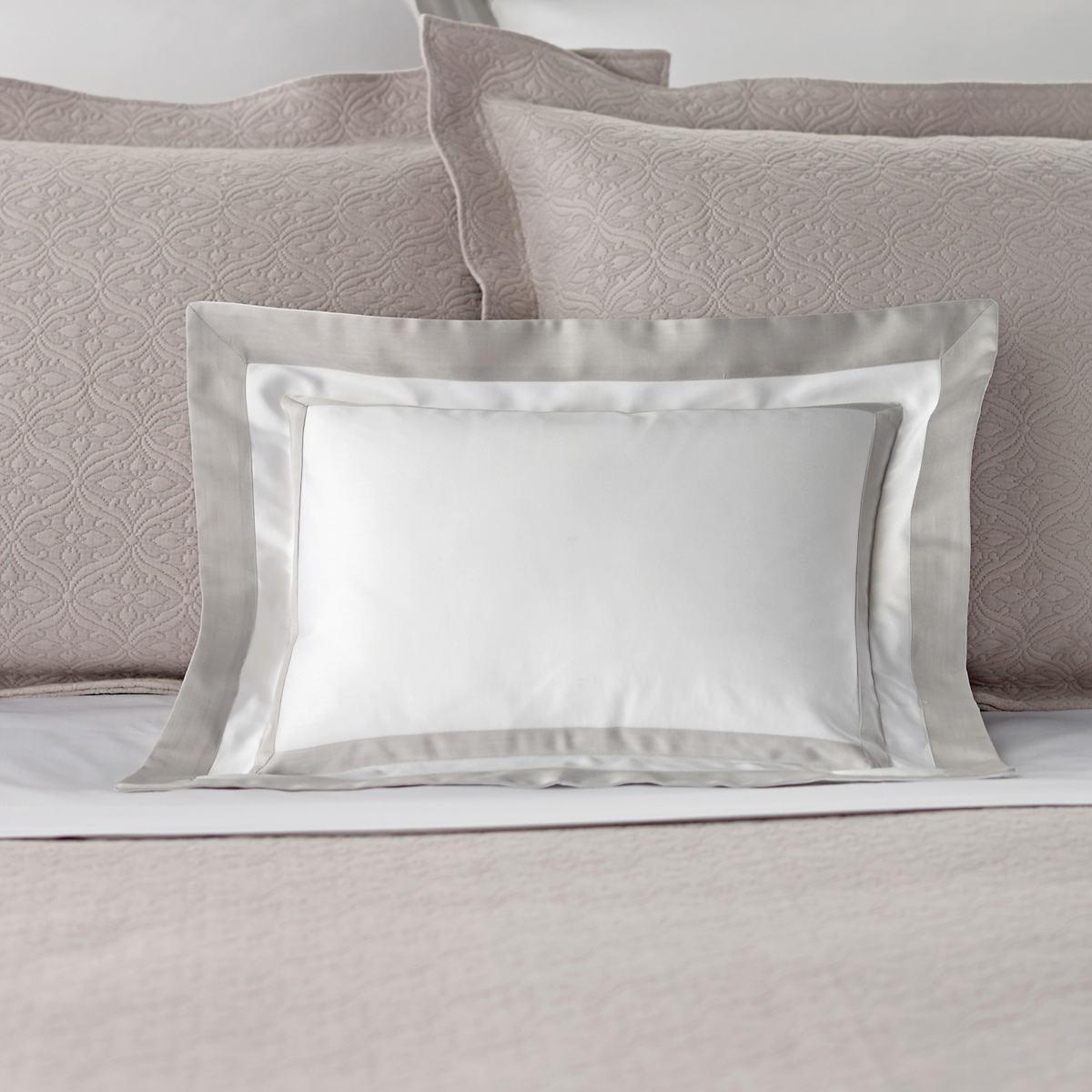 Piazza White/Zinc Decorative Pillow