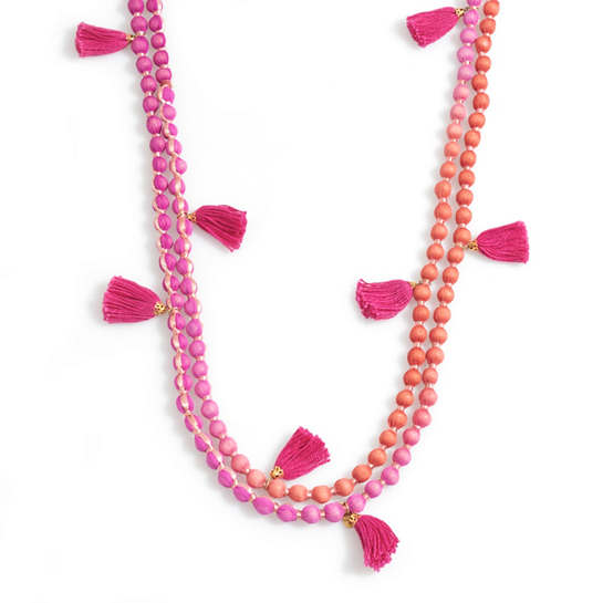 Pink Beachy Beads Necklace