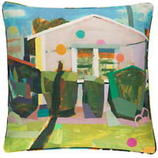 Pink House Indoor/Outdoor Decorative Pillow