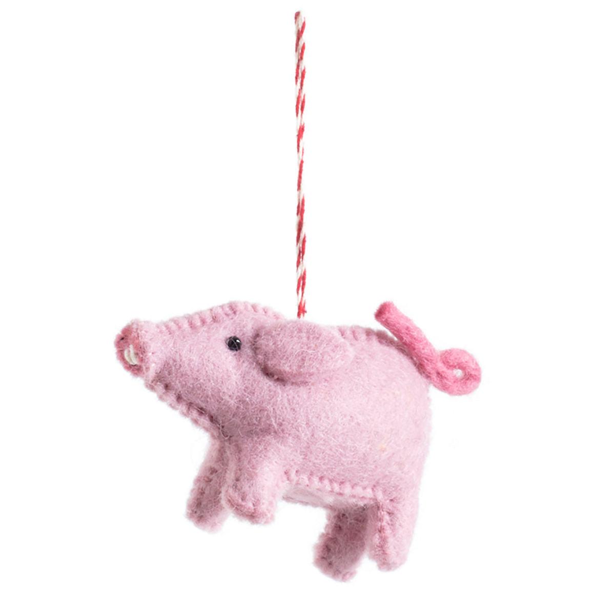 Pink Pig Ornament
