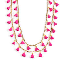 Pink Staycation Tassel Necklace
