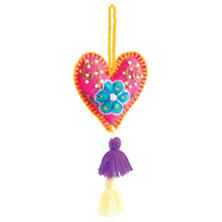 Pink Woven Hearth Ornament
