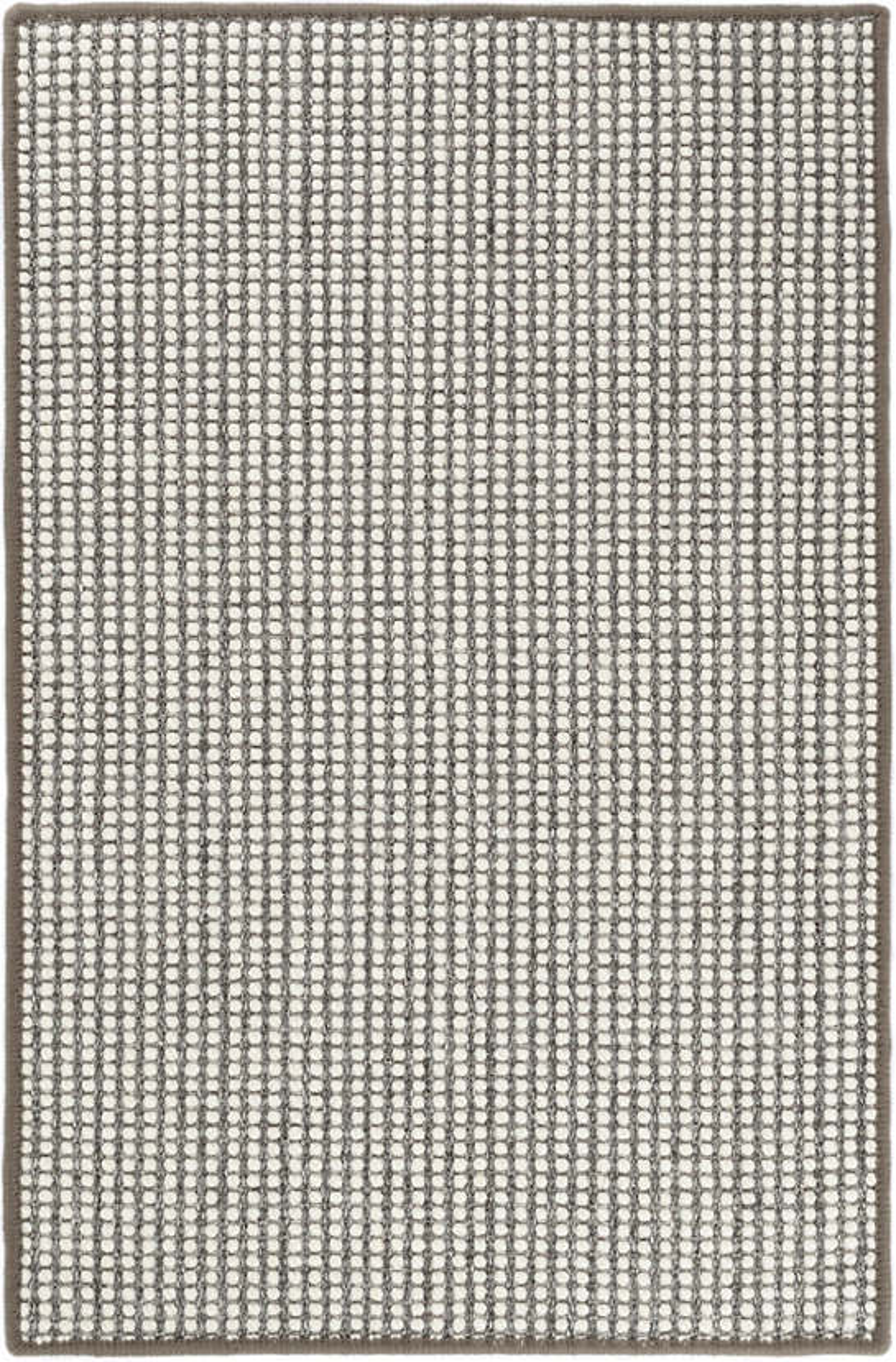 Pixel Grey Woven Sisal/Wool Custom Rug With Pad