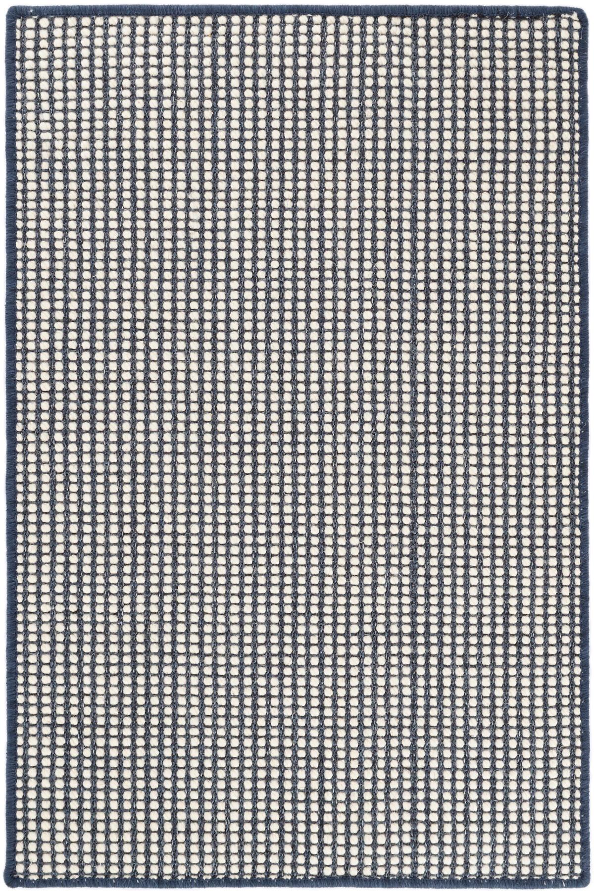 Pixel Indigo Woven Sisal/Wool Custom Rug With Pad