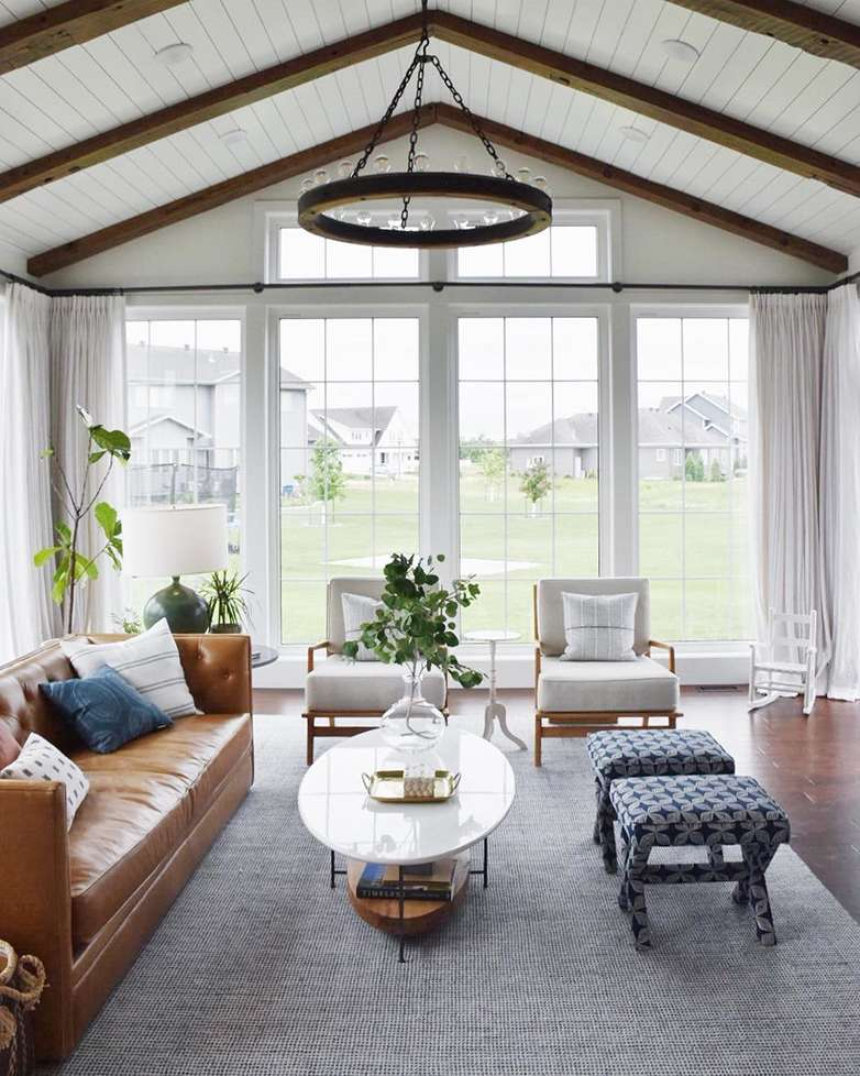 Rug placement tips annie selke - Living room area rugs ...