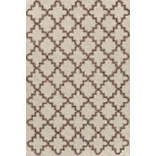 Plain Tin Oatmeal Micro Hooked Wool Rug
