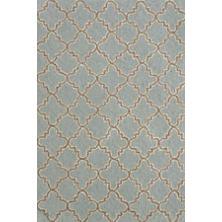 Plain Tin Slate Micro Hooked Wool Rug