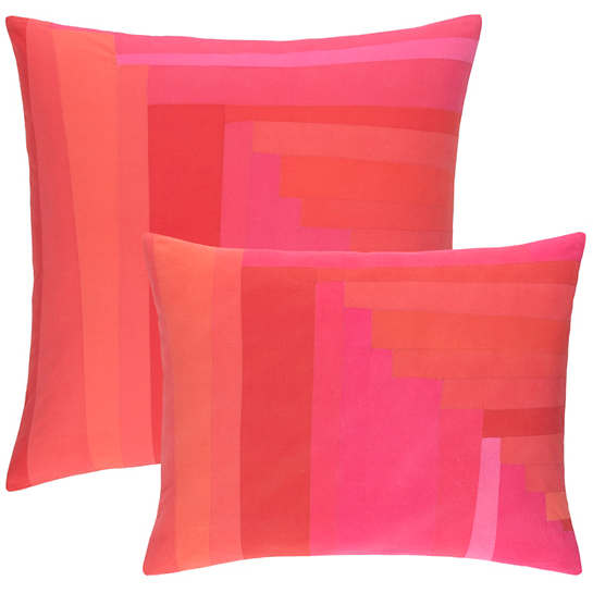 Plait Patched Pink Decorative Pillow