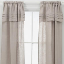 Pleated Linen Natural Window Panel